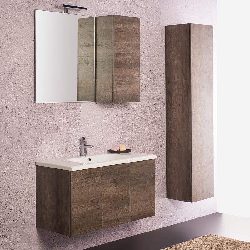 Arredo bagno moderno arredo bagno sospeso unika 90x45 - Arredo bagno prato ...