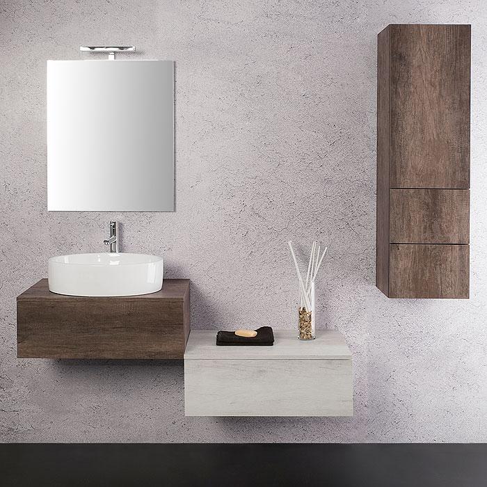 Arredo Bagno Moderno: Arredo bagno sospeso Unika 70x46
