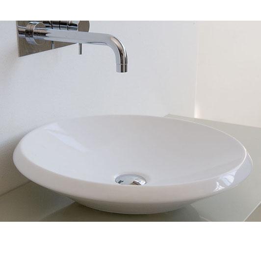 Lavabi appoggio lavabo appoggio tondo 50 - Misure lavabo bagno ...