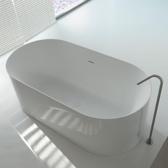 Vasche freestanding e design vasca da bagno dual ovale 160x80xh55 - Vasche da bagno rettangolari grandi ...
