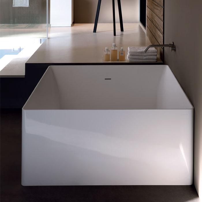 Vasche freestanding e design vasca da bagno dual quadrata - Vasca da bagno quadrata ...