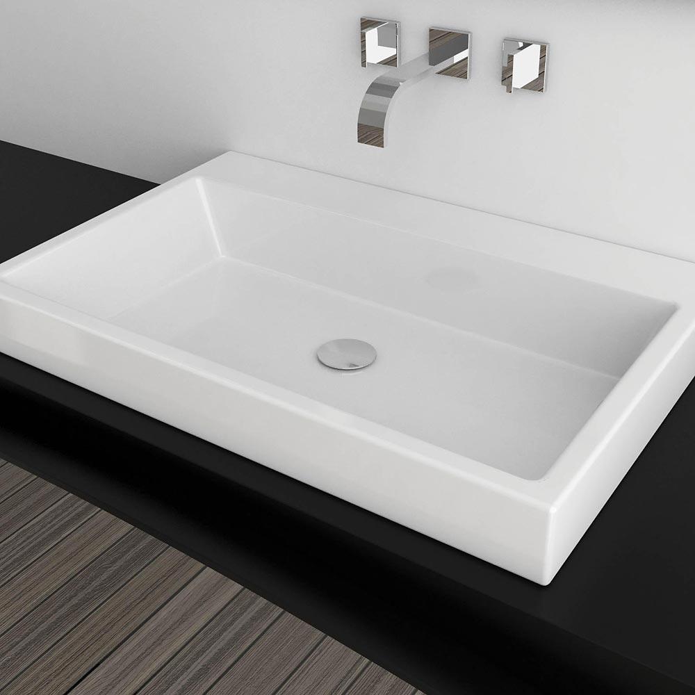 Lavello Bagno Da Appoggio lavabo da appoggio incasso o sospeso 75x48 in ceramica