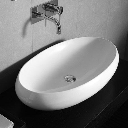 Lavabi appoggio lavabo appoggio ovale 75 serie tao - Piano d appoggio per lavabo ...