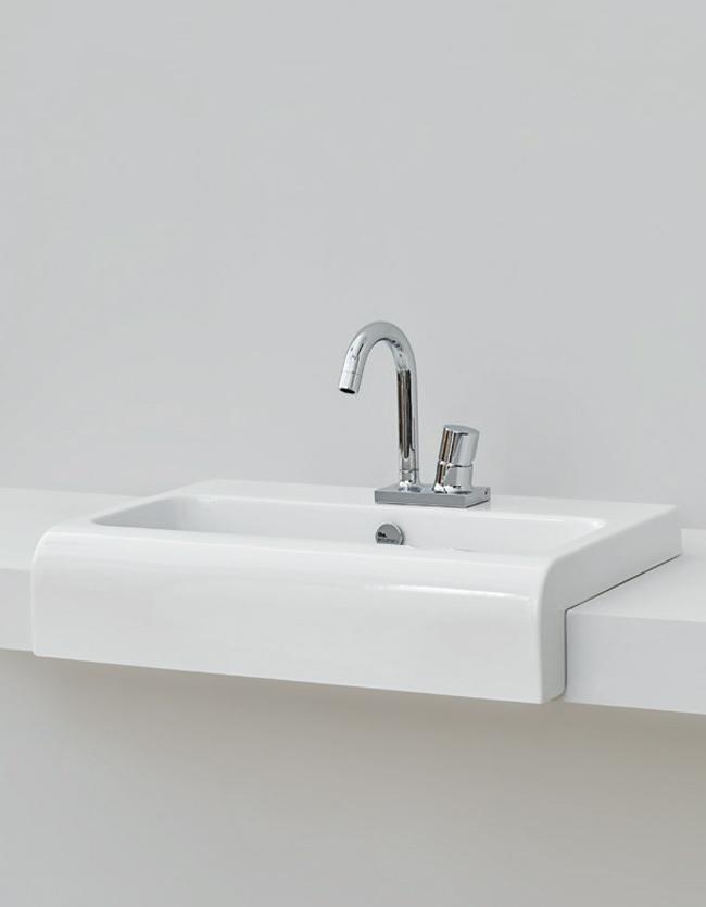 Lavabi incasso lavabo semincasso 45 la fontana - Lavabo bagno semincasso ...