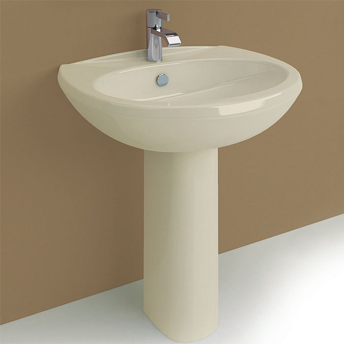 Lavabi colorati lavabo su colonna fly 63 champagne for Wc colore champagne