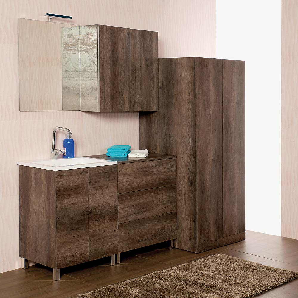 Mobile Colonna Lavatrice Asciugatrice lavanderia unika a terra 200 cm