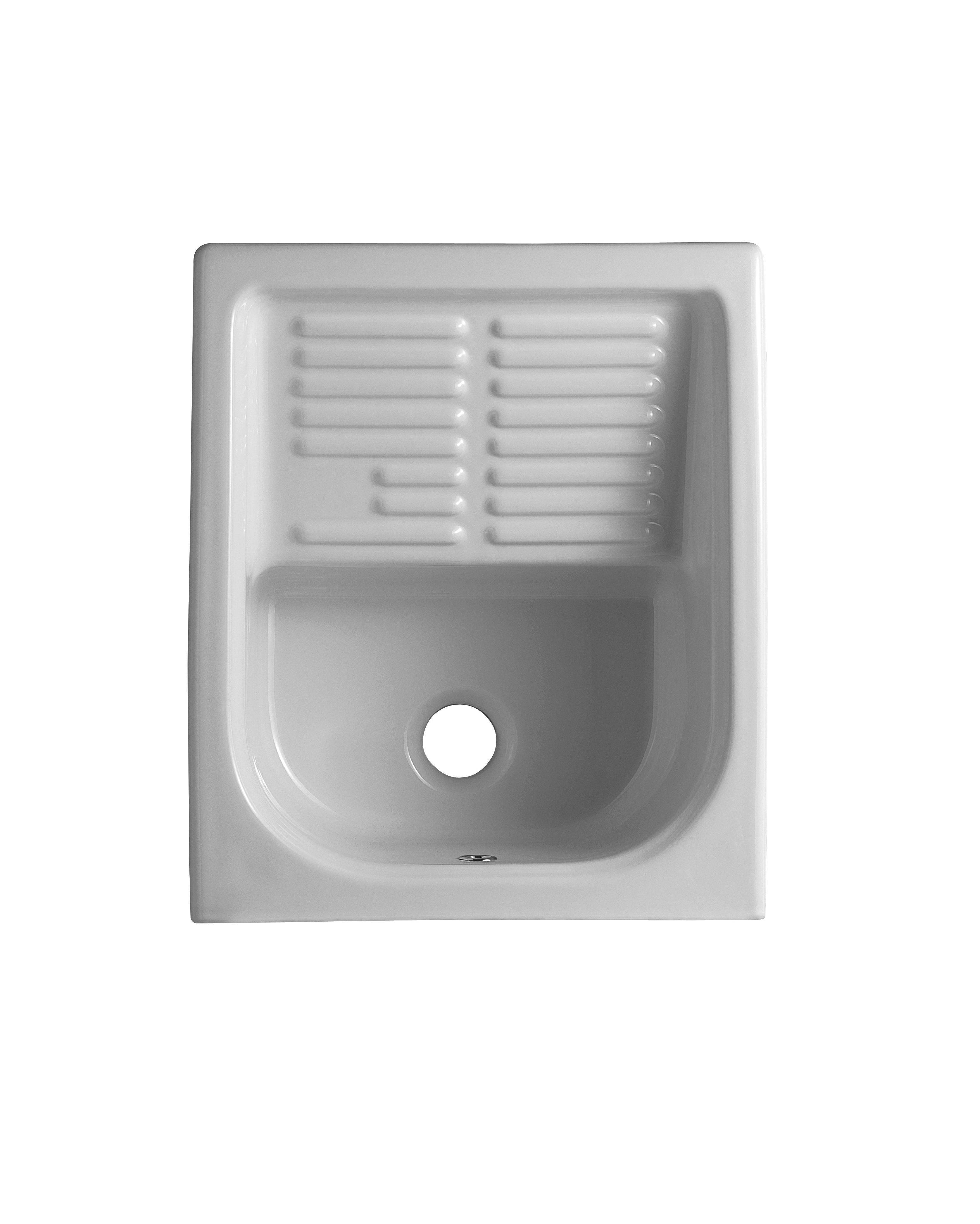 Lavapanni lavatoio in ceramica 44x52 con strizzatoio con - Lavatoio con mobile ikea ...