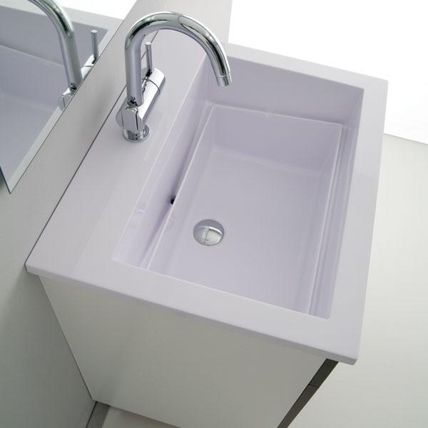 lavatoio e mobile 60x50 zeus - arredo lavanderia - jo-bagno.it - Lavabi Con Mobile