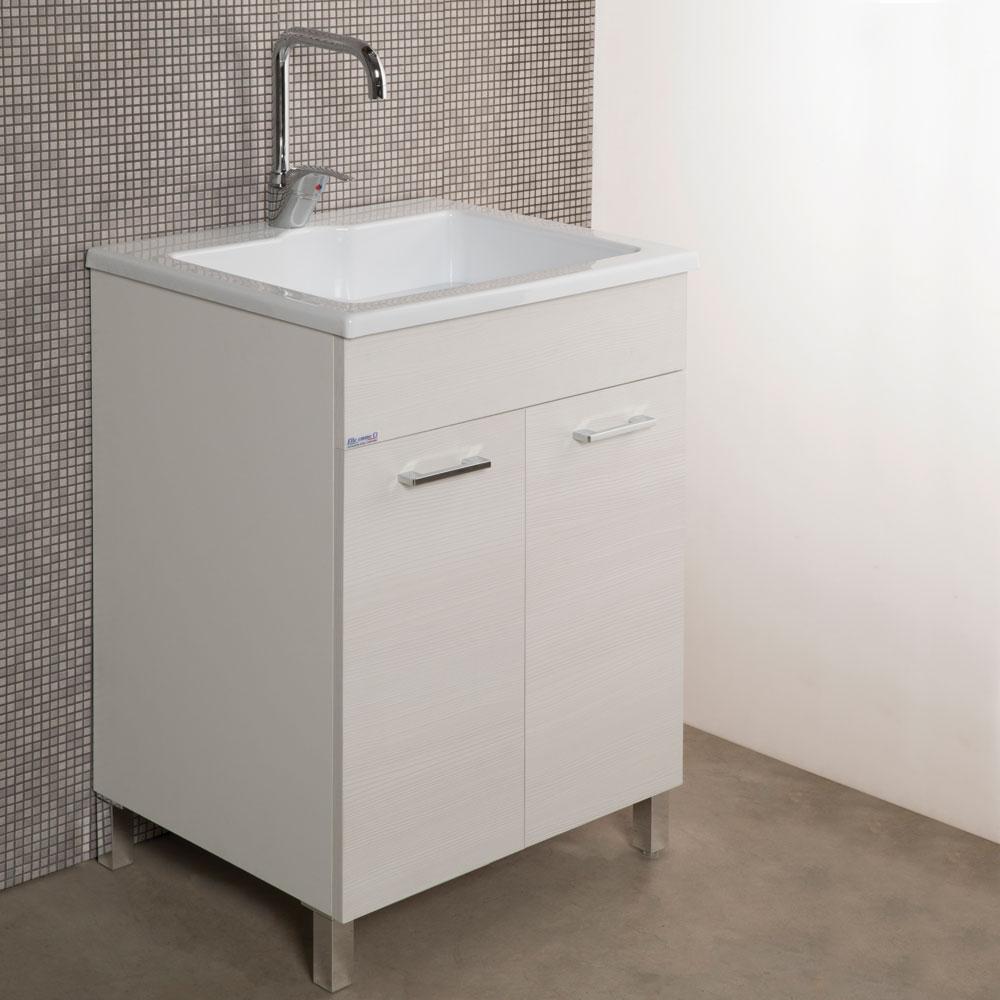 Mobile lavanderia con lavabo Zeus metacrilato 60x50