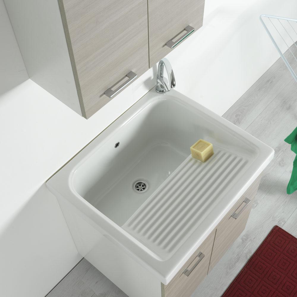Lavello Cucina Una Vasca Grande vasca lavatoio in ceramica 75x65 rodano