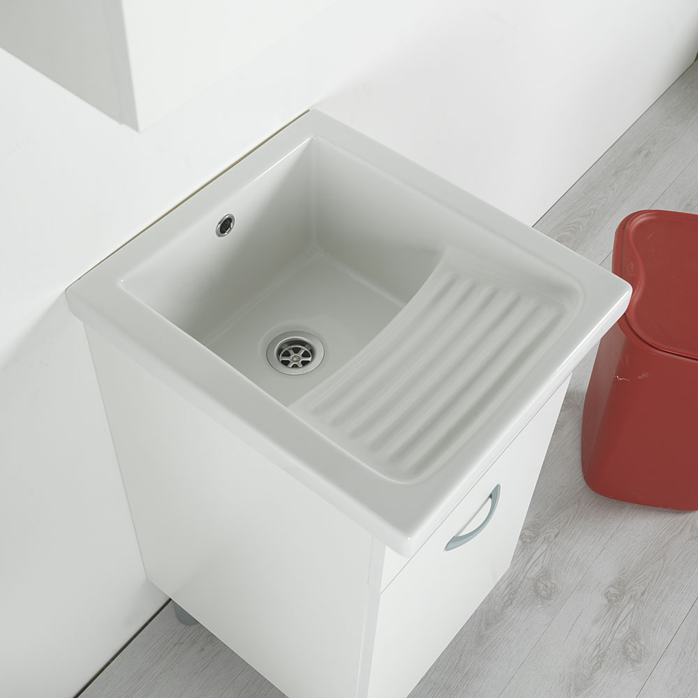 Lavatoio In Ceramica Con Rubinetto.Lavatoio In Ceramica Mosella 45x50