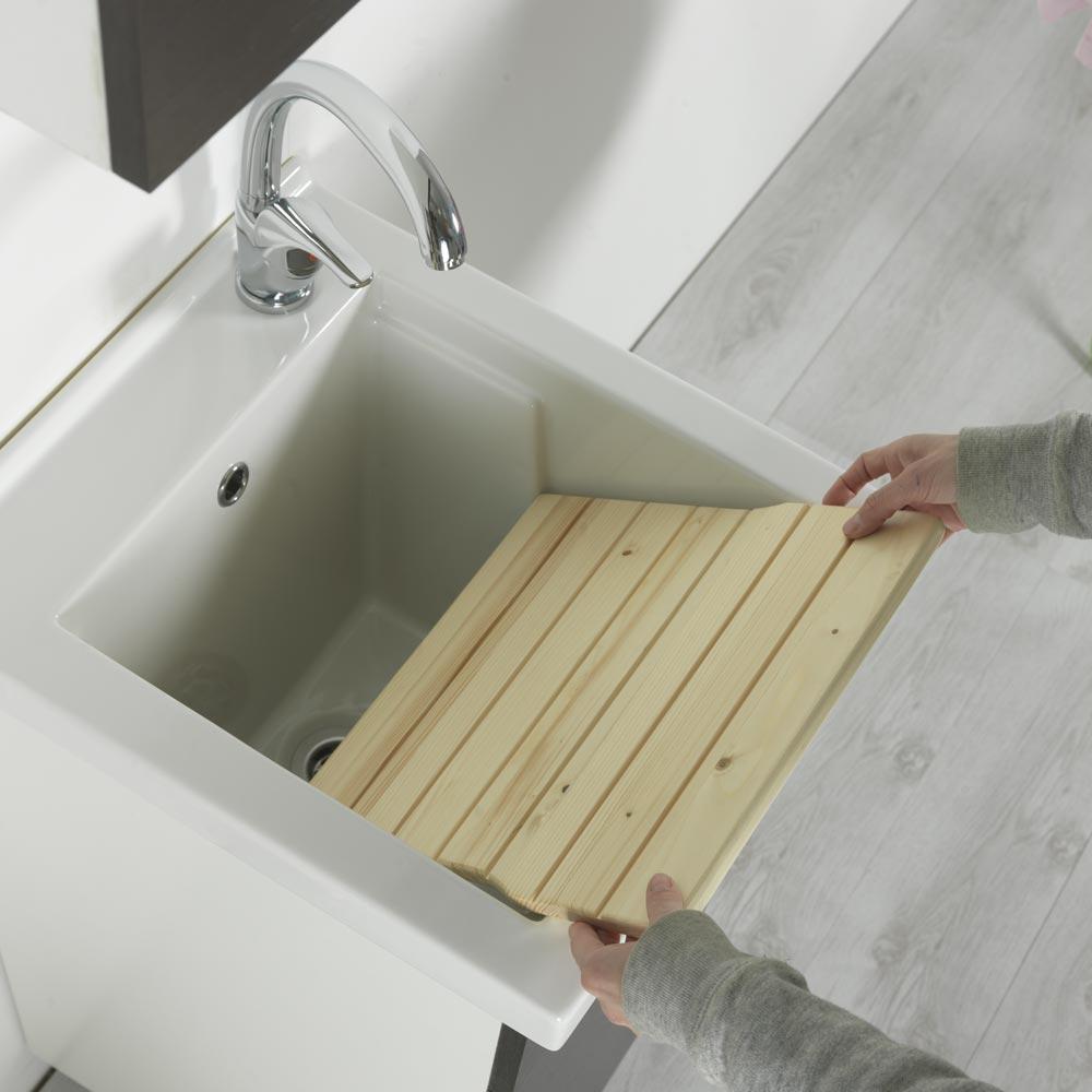 Lavatoio Per Bagno Lavanderia vasca lavatoio in ceramica 45x50 ticino