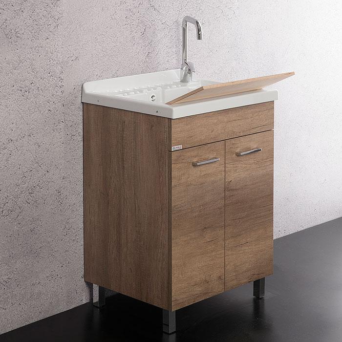 Lavanderia e lavatoi mobile lavatoio unika con vasca in - Mobile con lavatoio ...