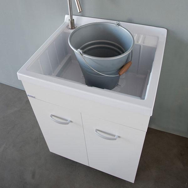 Lavanderia e lavatoi lavatoio con mobile 60x50 lemon - Lavatoio ceramica con mobile ...