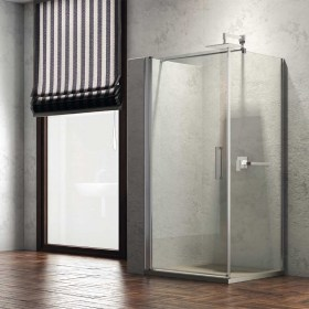 Cabina Doccia anta battente e lato fisso in cristallo temperato 8 mm Ix-Box Shower