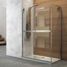 Cabina scorrevole 2 ante in cristallo temperato 8 mm Ix-Box Shower