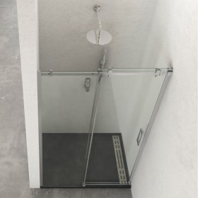 Box Doccia nicchia porta scorrevole in cristallo temperato 8 mm Ix-Box Shower