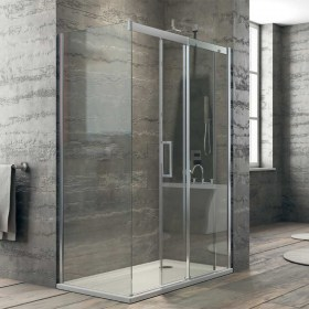 Cabina Doccia porta scorrevole in cristallo temperato 8 mm Ix-Box Shower