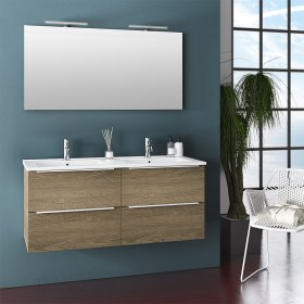 Mobile Bagno 120 Moderno Bianco Tft Home Forniture