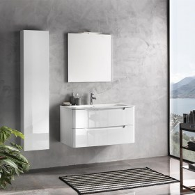 mobile bagno 95 cm Palma Bianco Lucido TFT Home Forniture