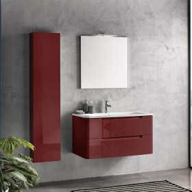 mobile bagno 95 cm Palma Rosso Lucido TFT Home Forniture