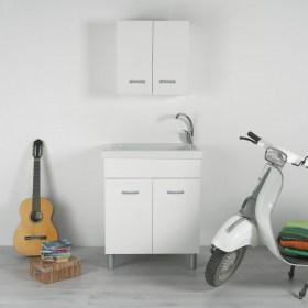 Lavatoio Ceramica Dolomite Lago.Lavatoio Lago 75x61 A Tutta Vasca Con Mobile Bianco Ideal Standard Dolomite