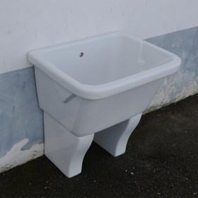 Lavatoio In Ceramica Per Lavanderia.Vasca Lavatoio Marna Con Muriccioli D Appoggio 75x60