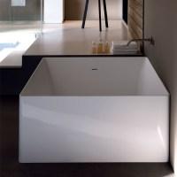Vasche freestanding e design vasca da bagno dual ovale 160x80xh55 - Vasca da bagno quadrata ...
