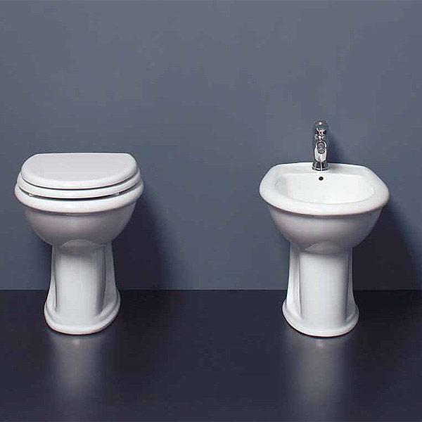 Sanitari bagno a terra pavimento wc e bidet in coppia jo bagno ce sa bo ceramiche - Misure sanitari bagno ...