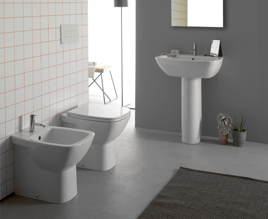Sanitari bagno a terra pavimento wc e bidet in coppia jo bagno globo ceramica - Sanitari bagno globo ...