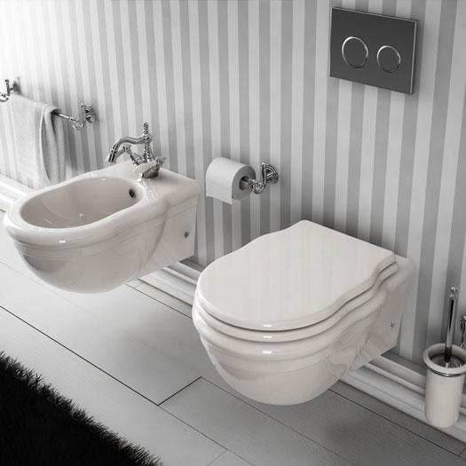 Bagno completo classico sospeso serie ellade - Accessori bagno classico ...