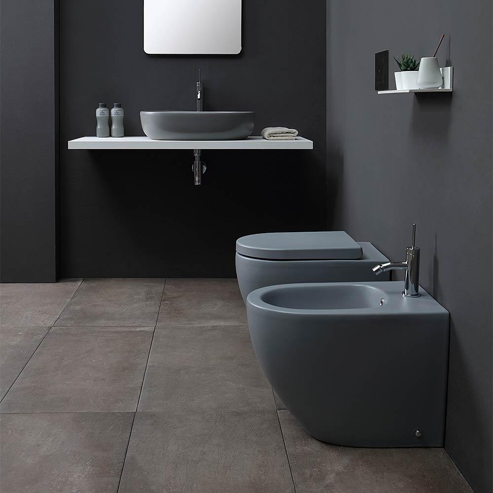 Sanitari Scala Ideal Standard sanitari grigio opacho 55x36 a terra nemesi55