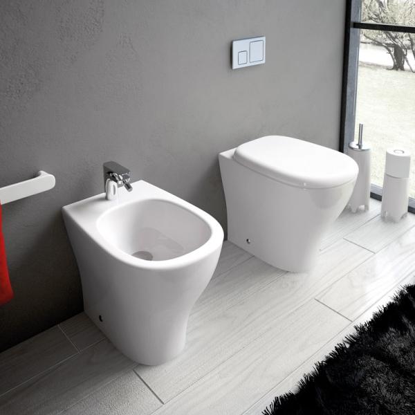 Sanitari bagno a terra sanitari bagno filo muro ten - Ingombro sanitari bagno ...
