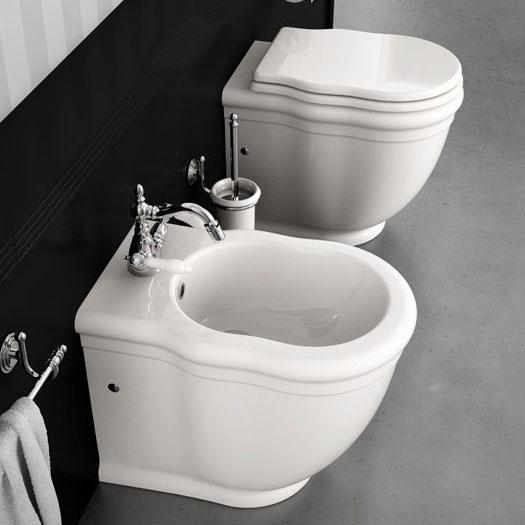 Sanitari bagno a terra classici filomuro ellade - Misure sanitari bagno ...
