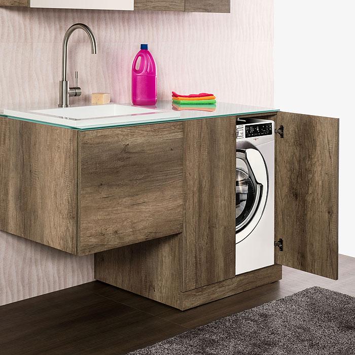 Mobile lavatrice mobile lavanderia unika con lavabo zeus - Mobile lavabo lavatrice ...