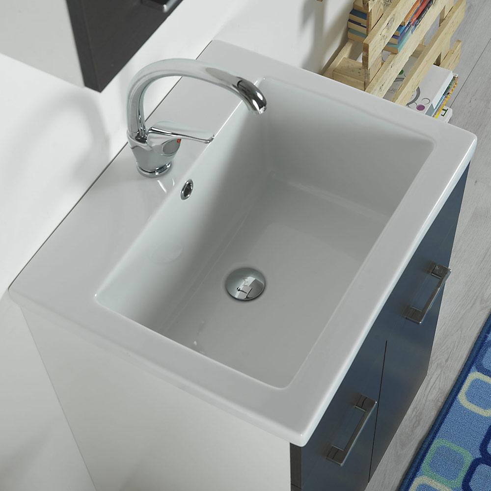 Mobile Bagno Lavandino Incasso vasca lavatoio in ceramica 60x50 danubio