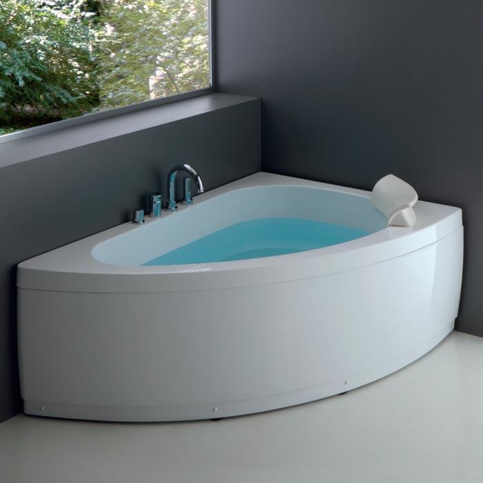 Vasche angolari vasca sharm asimmetrica 150x100xh60 for Dimensioni vasche da bagno angolari
